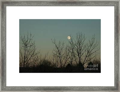 Framed Print featuring the photograph Winter Moon by Ana V Ramirez
