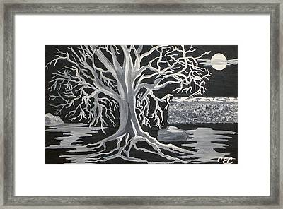 Winter Moon Framed Print by Carolyn Cable