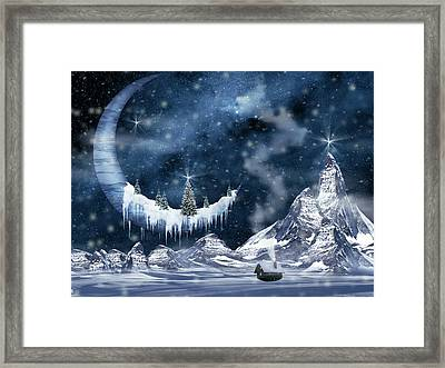 Winter Moon Framed Print by Mihaela Pater