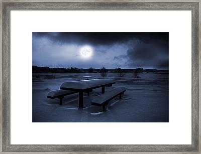 Winter Moonlight Framed Print by Jaroslaw Grudzinski