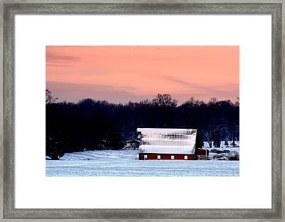 Framed Print featuring the photograph Winter Morn by Diane Merkle