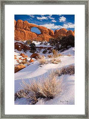 Winter Morning At Arches National Park Framed Print