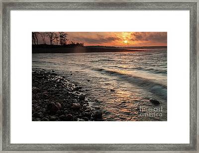 Framed Print featuring the photograph Winter Morning At The Vetran's Lake by Iris Greenwell