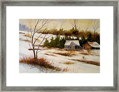 Winter Morning Framed Print by Brooke Lyman