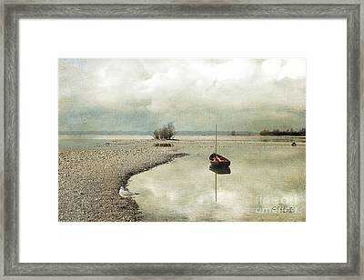 Winter Morning By The Lake Framed Print
