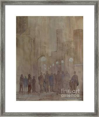 Winter Morning In The City Framed Print by Anna Folkartanna Maciejewska-Dyba