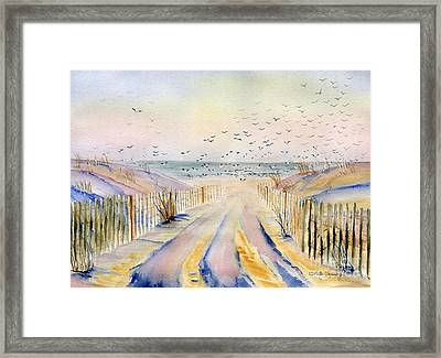 Winter Morning Framed Print by Melly Terpening