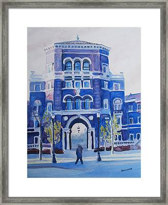 Winter Morning On Campus Framed Print by Jenny Armitage
