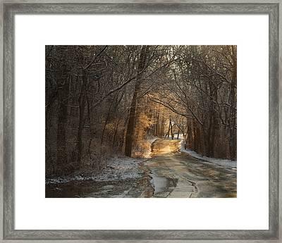 Winter Morning Road Framed Print by Robert Clayton