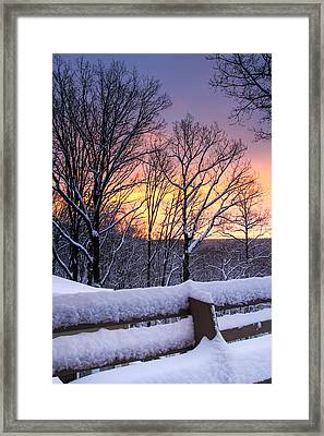 Winter Morning Framed Print by Tom and Pat Cory