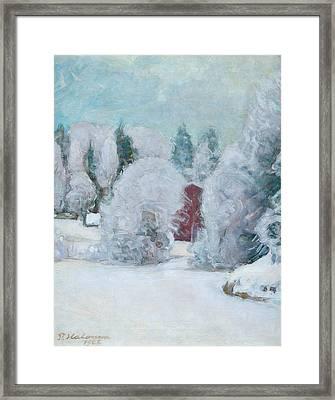 Winter Motif Framed Print