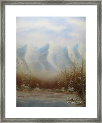 Winter Mountains Framed Print by Todd Androy