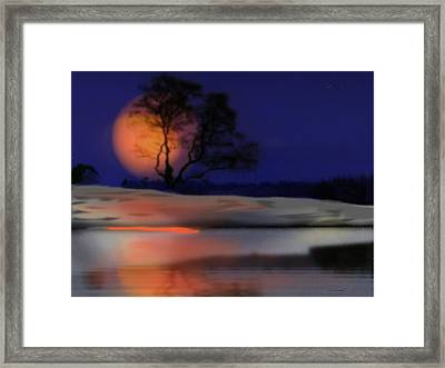 Winter Night Framed Print by Dr Loifer Vladimir