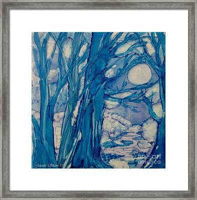 Winter Night  Framed Print by Jeanette Skeem