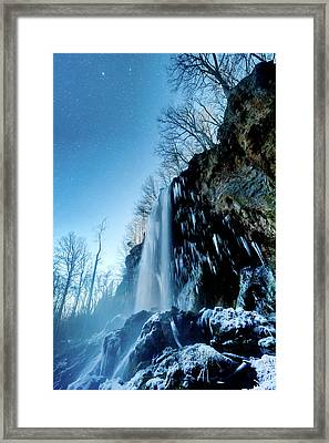 Winter Night Mist Framed Print by Jon Beard