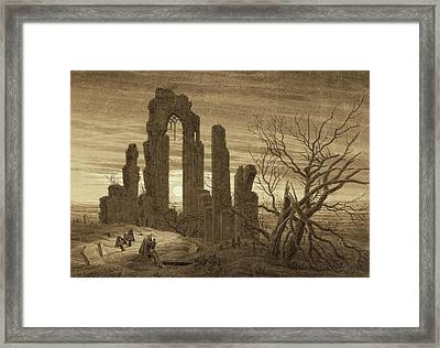 Winter - Night - Old Age And Death Framed Print by Caspar David Friedrich