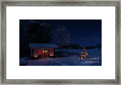 Framed Print featuring the photograph Winter Night by Torbjorn Swenelius