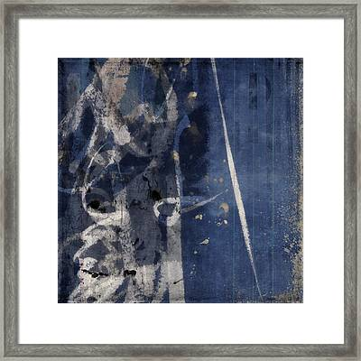 Winter Nights Series Five Of Six Framed Print by Carol Leigh