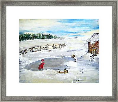 Winter Of Our Youth  Framed Print