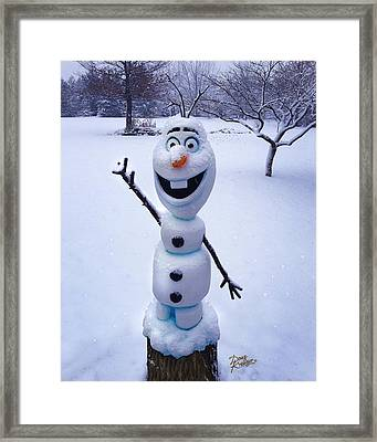 Winter Olaf Framed Print by Doug Kreuger