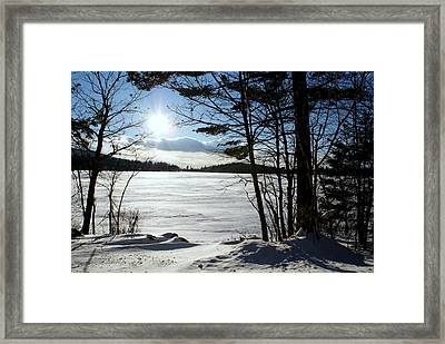 Winter On Dublin Lake Framed Print by Lois Lepisto