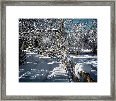 Winter On Ruskin Farm Framed Print