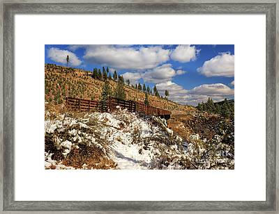 Winter On The Bizz Johnson Trail Framed Print by James Eddy