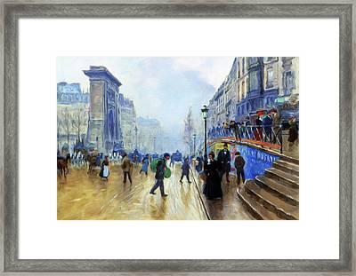 Winter On The Boulevard Framed Print by Georgiana Romanovna