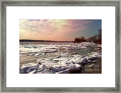 Winter On The Delaware Framed Print