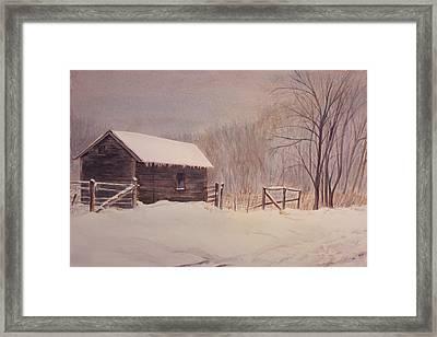 Winter On The Farm  Framed Print by Debbie Homewood
