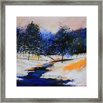 Winter On The Hill Framed Print by Mario Zampedroni