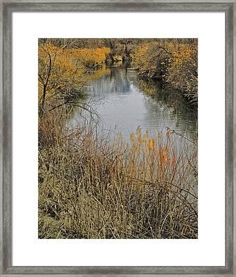 Winter On The Jordan River Framed Print