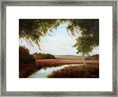 Winter On The Marsh Framed Print