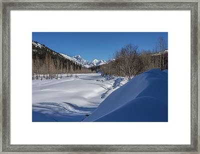 Winter On The Middle Fork Of The Flathead River Framed Print