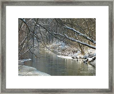 Winter On The Stream Framed Print