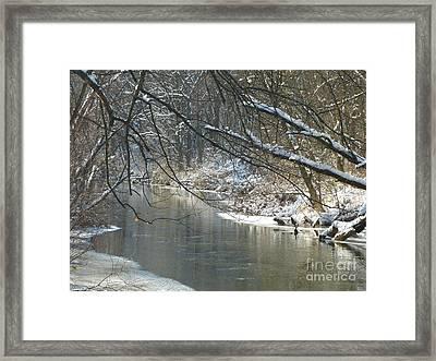 Winter On The Stream Framed Print