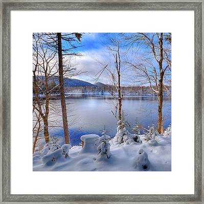 Winter On West Lake Framed Print by David Patterson