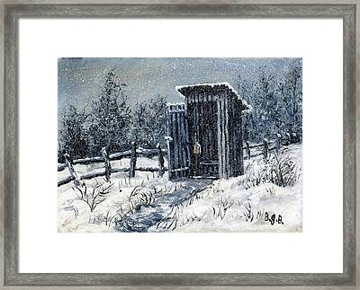 Winter Outhouse #2 Framed Print