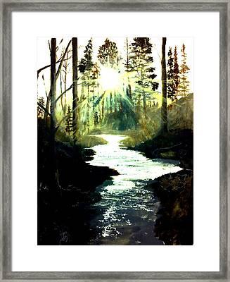 Winter Over Almond Creek Framed Print by Travis  Ragan