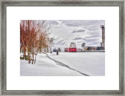 Winter Owen Sound Harbour Framed Print