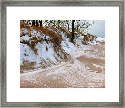 Winter Paints Framed Print by Kathi Mirto