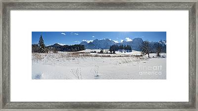 Winter Panorama 2 Framed Print by Sabine Jacobs