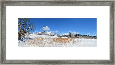 Winter Panorama Framed Print by Sabine Jacobs