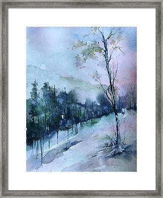 Winter Paradise Framed Print by Robin Miller-Bookhout