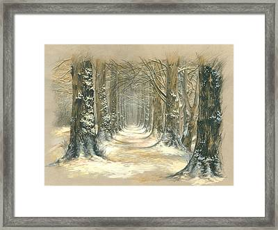 Winter Parkway Framed Print