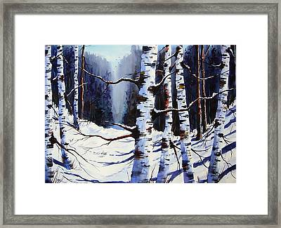 Winter Passage Framed Print by Wilfred McOstrich