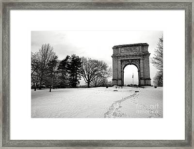 Winter Path To Glory Framed Print by Olivier Le Queinec