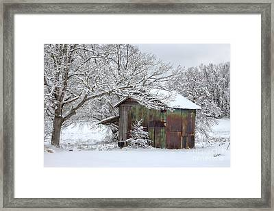 Winter Patina Framed Print by Benanne Stiens