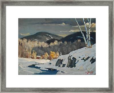 Winter Patterns Framed Print by Len Stomski