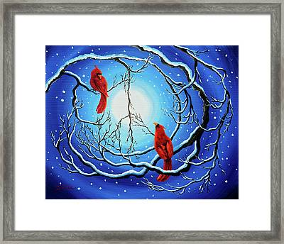 Winter Peace Framed Print by Laura Iverson